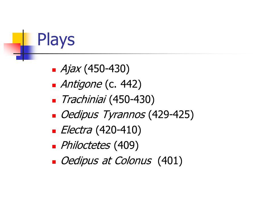 Plays Ajax (450-430) Antigone (c.