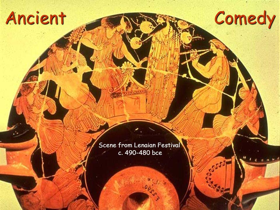 Ancient Comedy Scene from Lenaian Festival c. 490-480 bce
