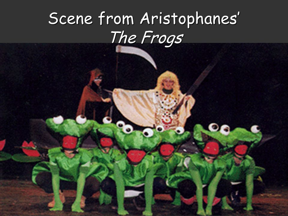 Scene from Aristophanes' The Frogs