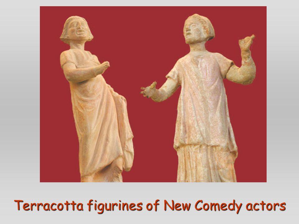 Terracotta figurines of New Comedy actors