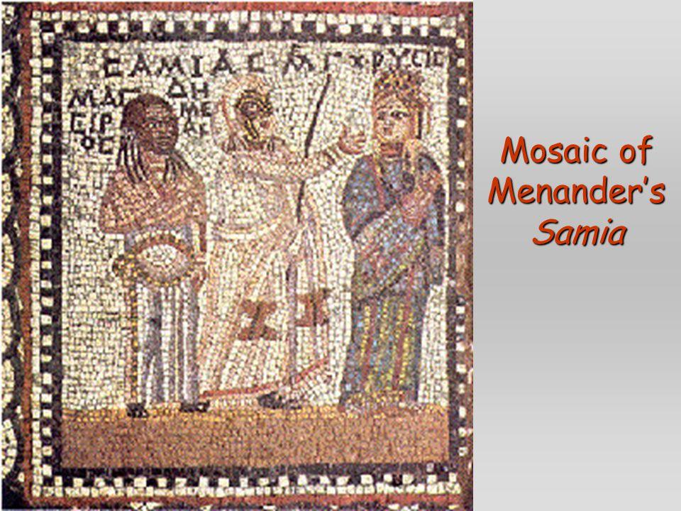 Mosaic of Menander's Samia