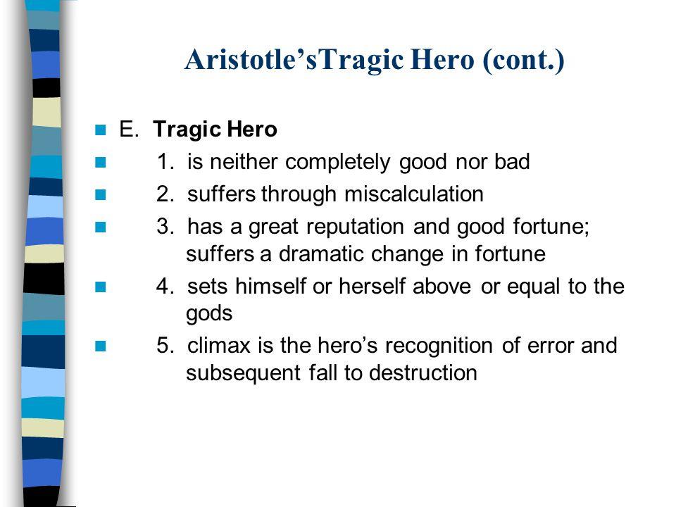 Aristotle's Tragic Hero A.Noble Birth B.