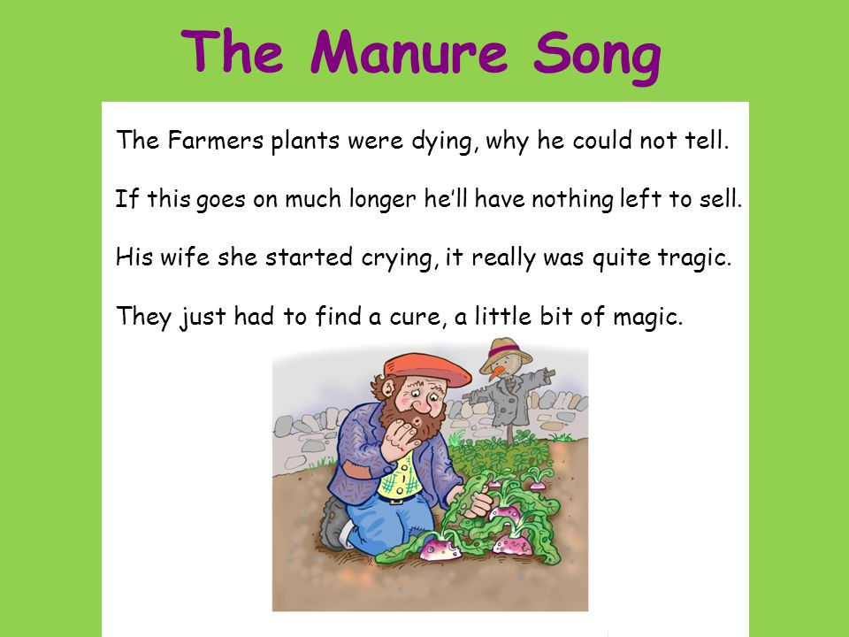The Manure Song By Brian Gibbs and Paul Dee