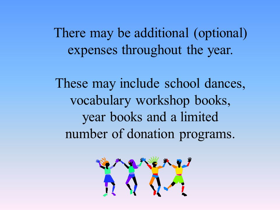 Supplies Basic school supplies include pencils, blue and black pens, 3-ring binders, pocket folders with brads and white loose-leaf paper. In addition