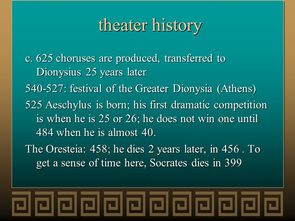 theater history theater history c.