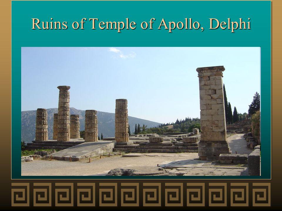 Ruins of Temple of Apollo, Delphi