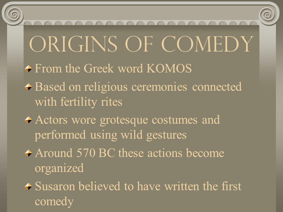 Greek Theatre Comedy