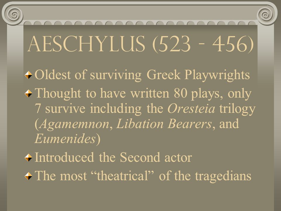 The Tragic Playwrights Aeschylus Sophocles Euripides