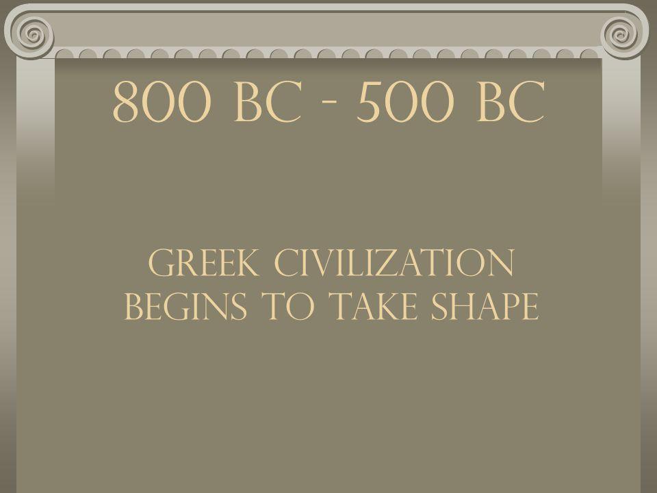 The Dawn of Greek Civilization