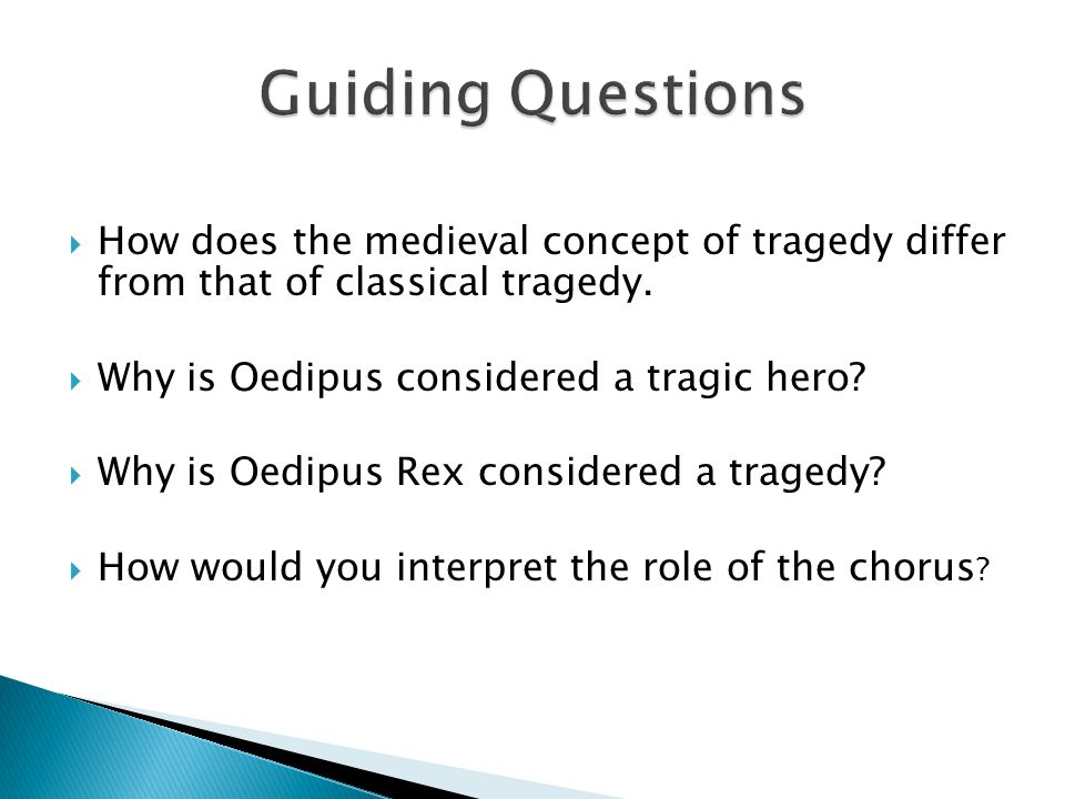  How does the medieval concept of tragedy differ from that of classical tragedy.