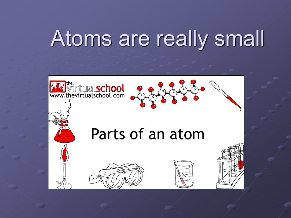 Atoms are really small