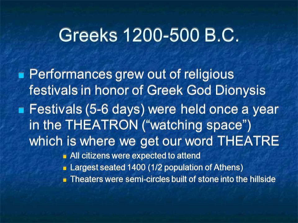 Greeks 1200-500 B.C.