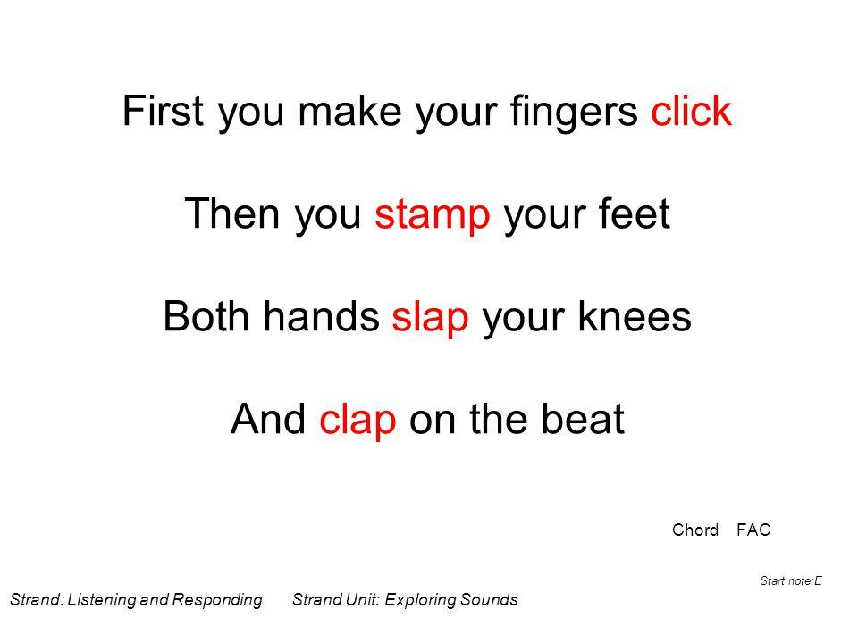 Body percussion Clap Click Slap Stamp