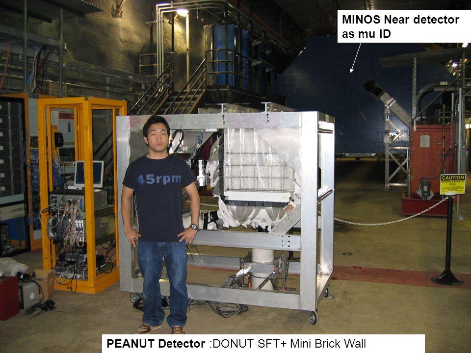 PEANUT Detector :DONUT SFT+ Mini Brick Wall MINOS Near detector as mu ID