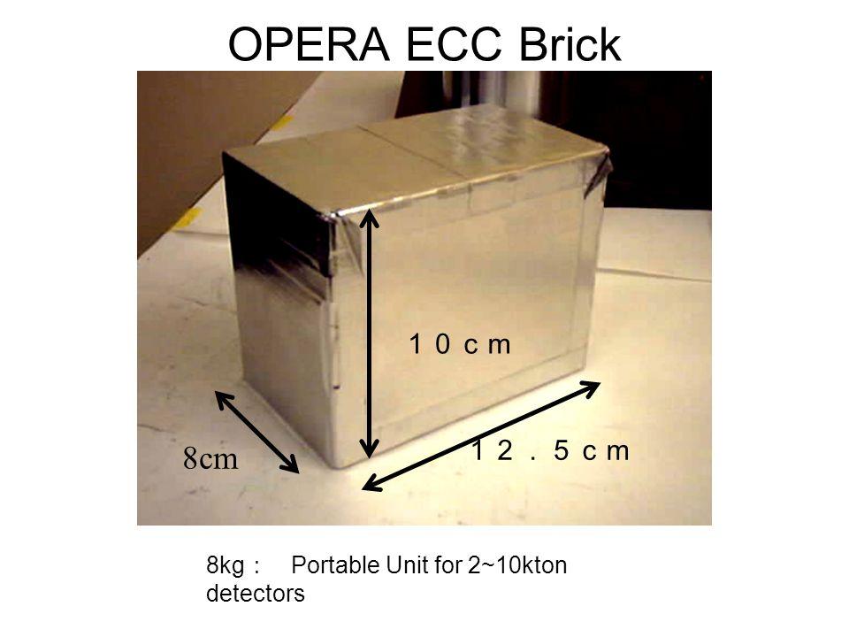 OPERA ECC Brick 10cm 12.5cm 8cm 8kg : Portable Unit for 2~10kton detectors