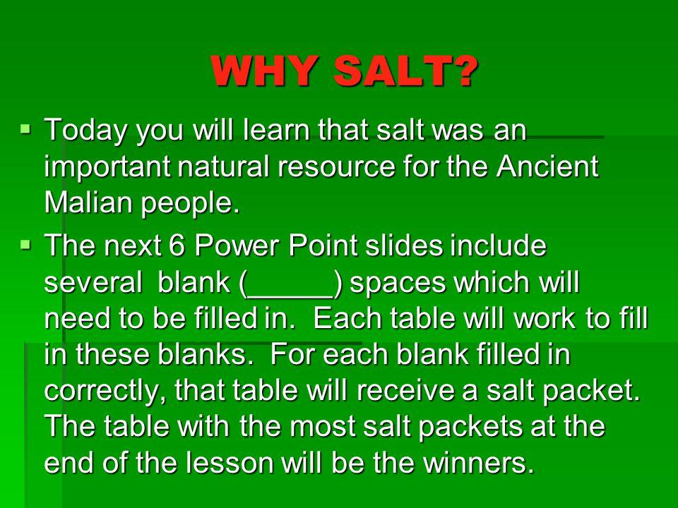 WHY SALT.