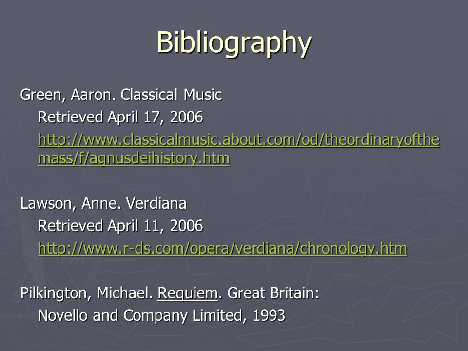 Bibliography Green, Aaron.