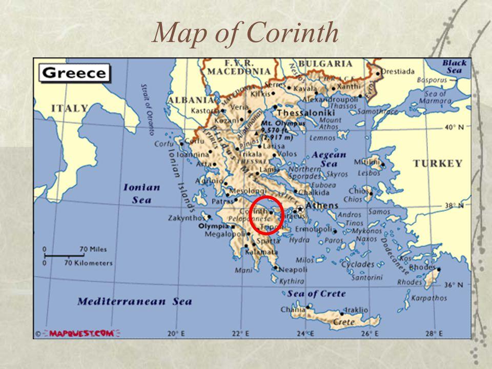 Map of Corinth