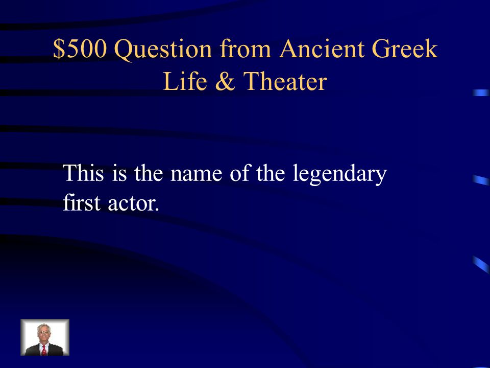 $400 Answer from Ancient Greek Life & Theater What are strophe and antistrophe