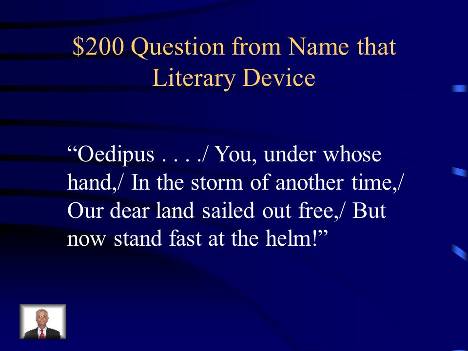 $100 Answer from Name that Literary Device What is paradox