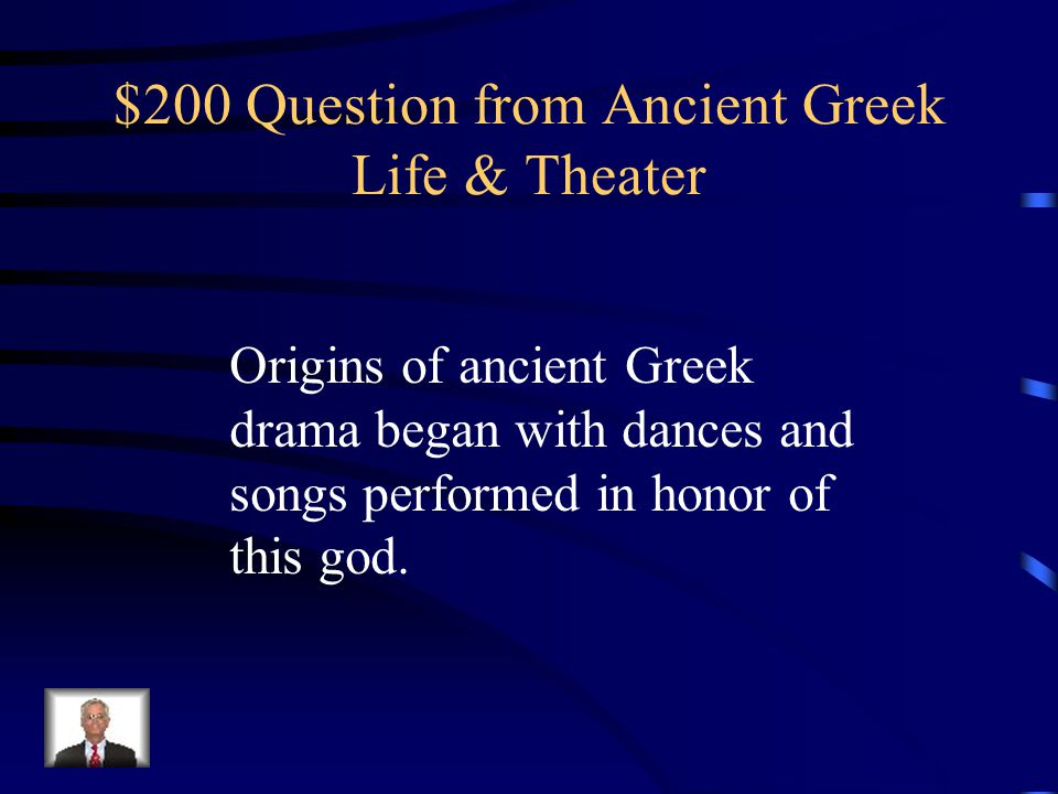 $100 Answer from Ancient Greek Life & Theater What is the oracle at Delphi