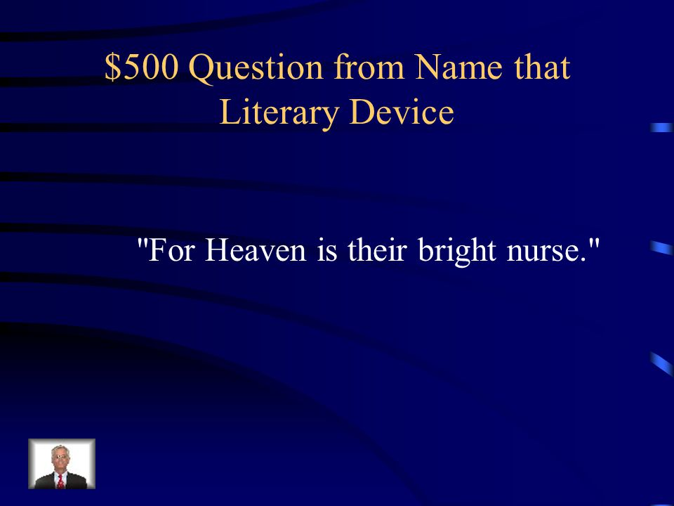 $400 Answer from Name that Literary Device What is dramatic irony