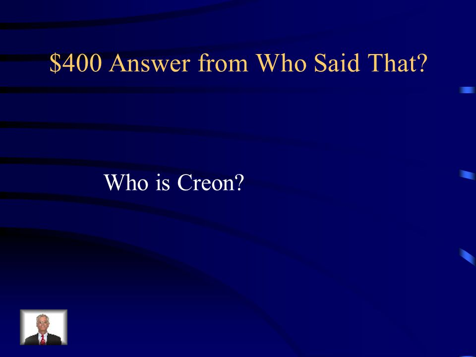 $400 Question from Who Said That.