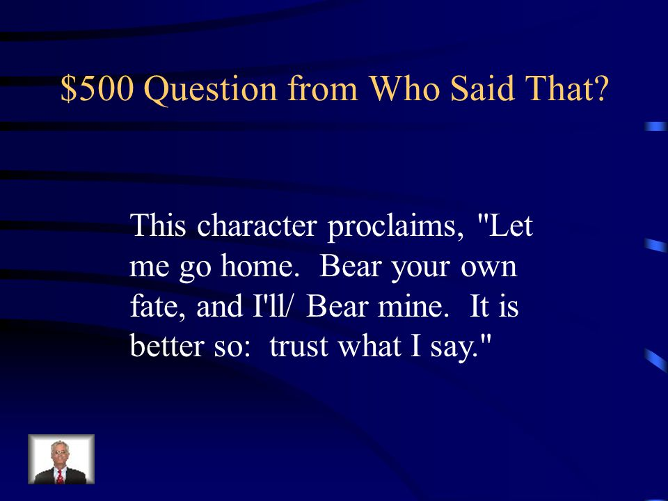$400 Answer from Who Said That Who is Creon