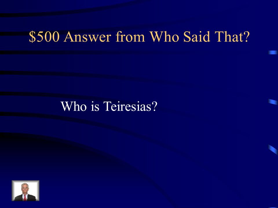 $500 Question from Who Said That. This character proclaims, Let me go home.