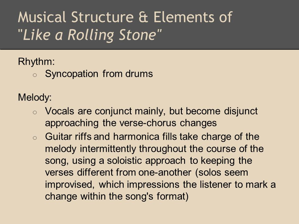 Musical Structure & Elements of