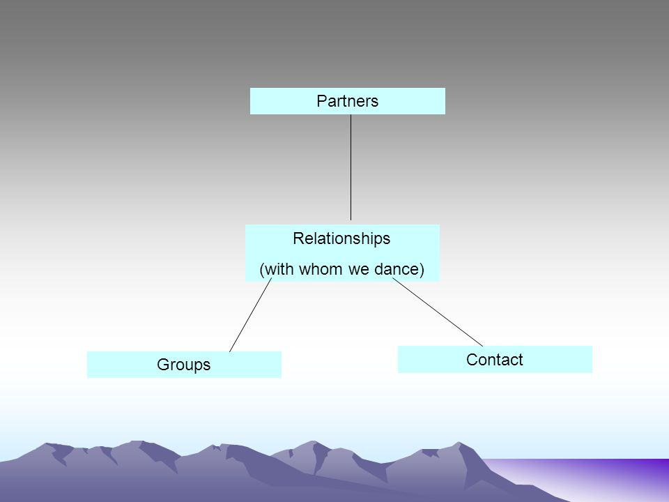 Partners Relationships (with whom we dance) Groups Contact