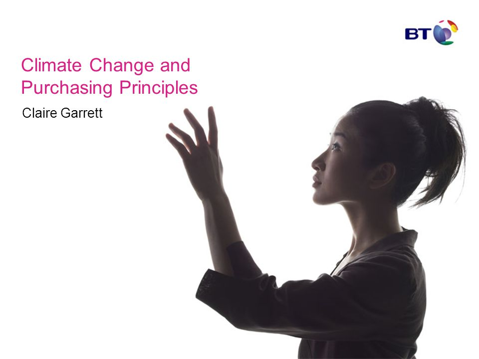 Claire Garrett Climate Change and Purchasing Principles