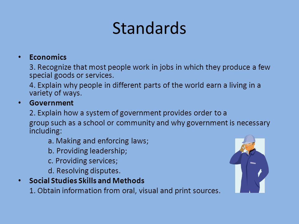 Standards Economics 3.