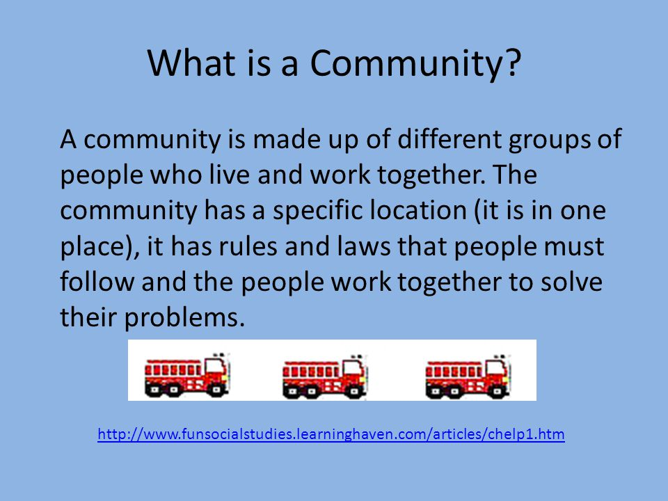 What is a Community.