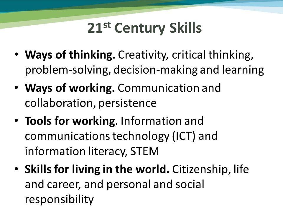 Ways of thinking.