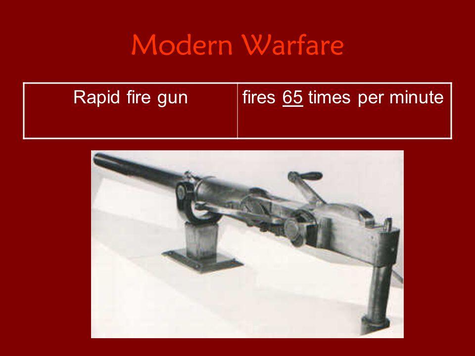 Modern Warfare Rapid fire gunfires 65 times per minute