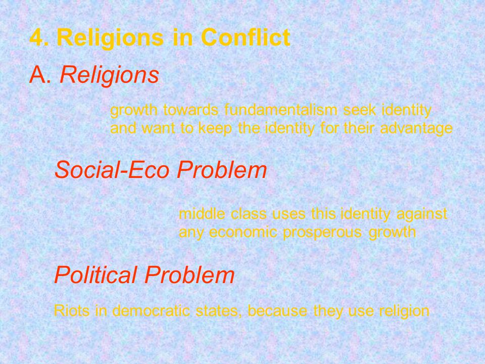 4. Religions in Conflict A.
