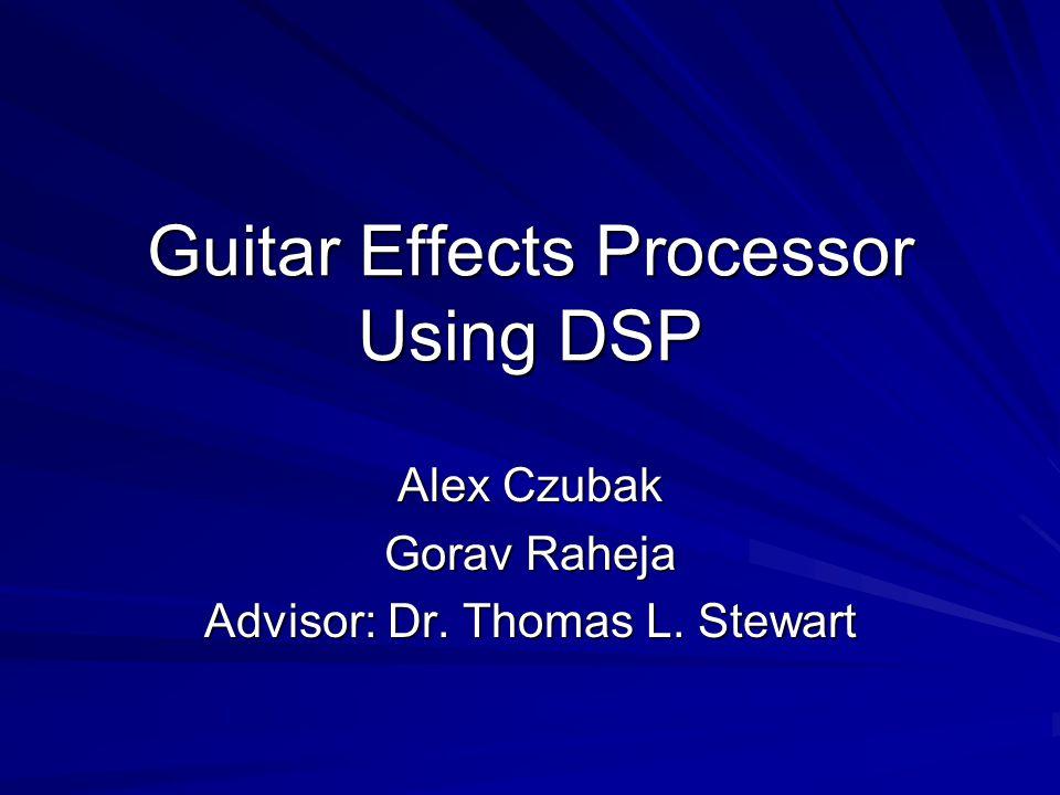 Guitar Effects Processor Using DSP Alex Czubak Gorav Raheja Advisor: Dr. Thomas L. Stewart