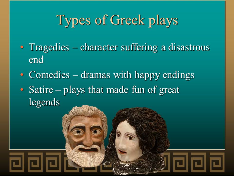 Structure of a Greek Play 1) Prologue: Spoken by one or two characters before the chorus appears.
