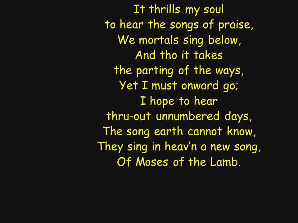 I want to hear, (hear that mighty chorus sweetly sing,) I want to hear, (hear that mighty chorus sweetly sing,) I want to hear, (hear that mighty chorus sweetly sing,) To hear it swell and ring.