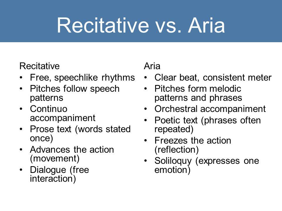 Recitative vs.