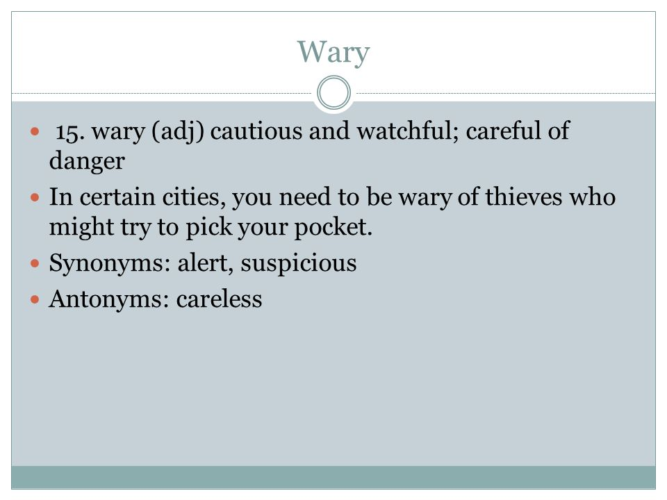 Wary 15.