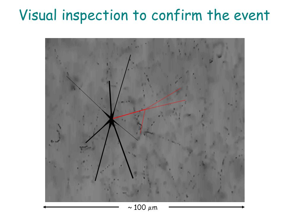 ~ 100  m Visual inspection to confirm the event