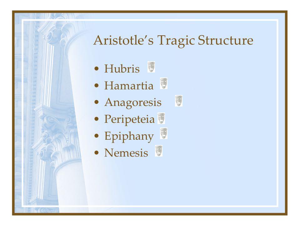 Aristotle's Tragic Structure Hubris Hamartia Anagoresis Peripeteia Epiphany Nemesis
