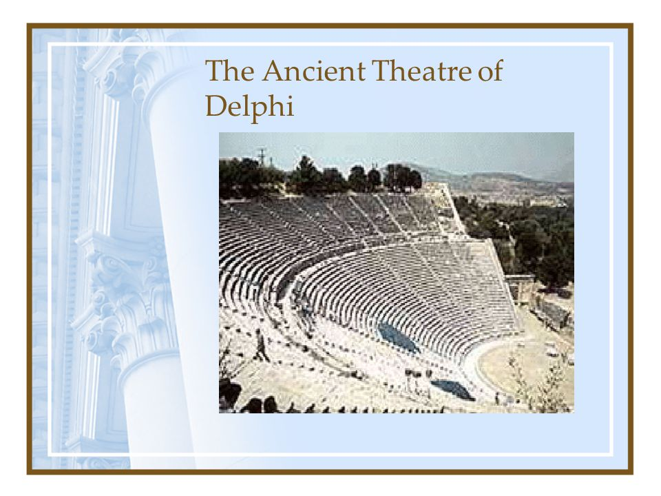 The Ancient Theatre of Delphi