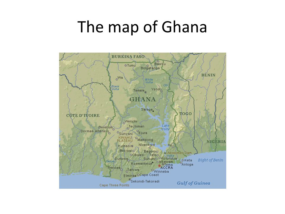 The map of Ghana