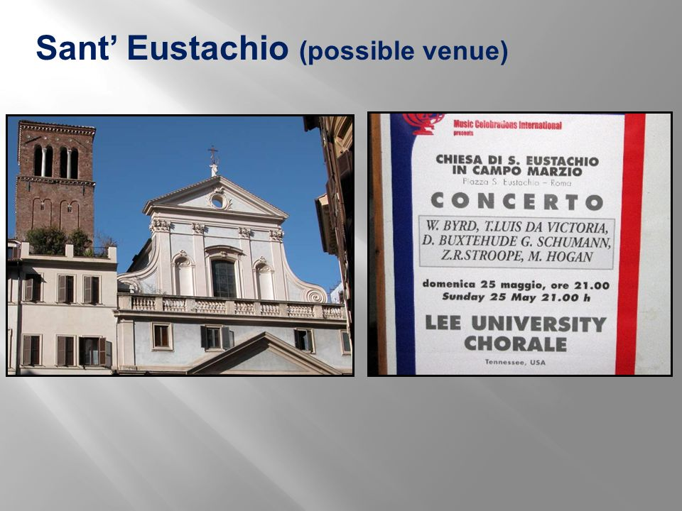 Sant' Eustachio (possible venue)