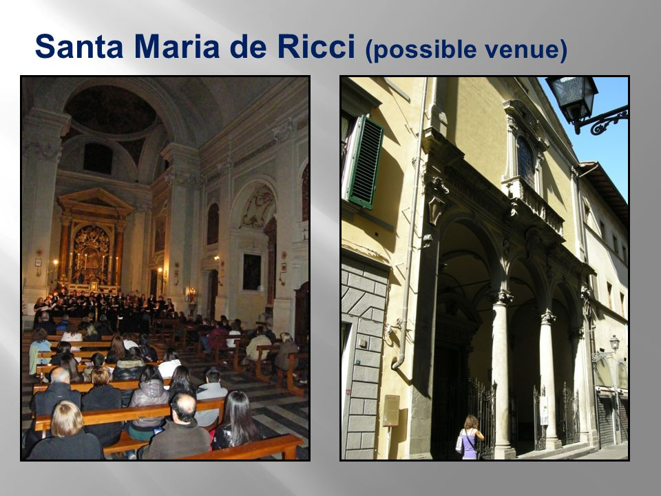 Santa Maria de Ricci (possible venue)