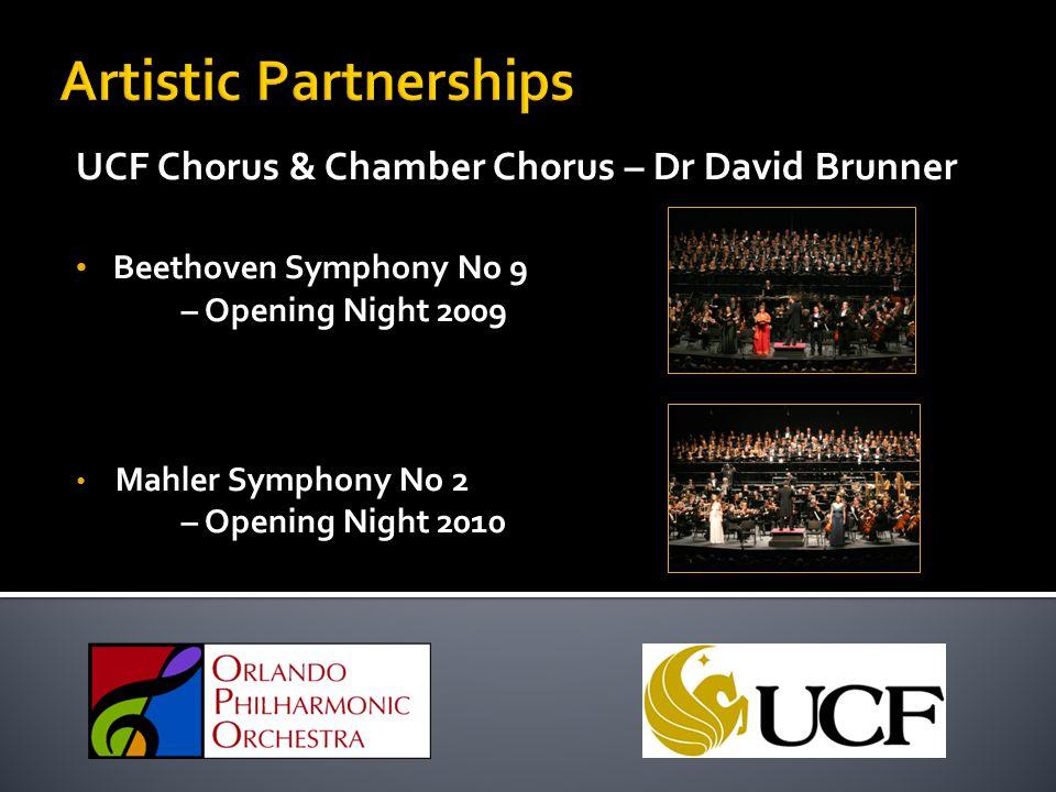 UCF Chorus & Chamber Chorus – Dr David Brunner Beethoven Symphony No 9 – Opening Night 2009 Mahler Symphony No 2 – Opening Night 2010