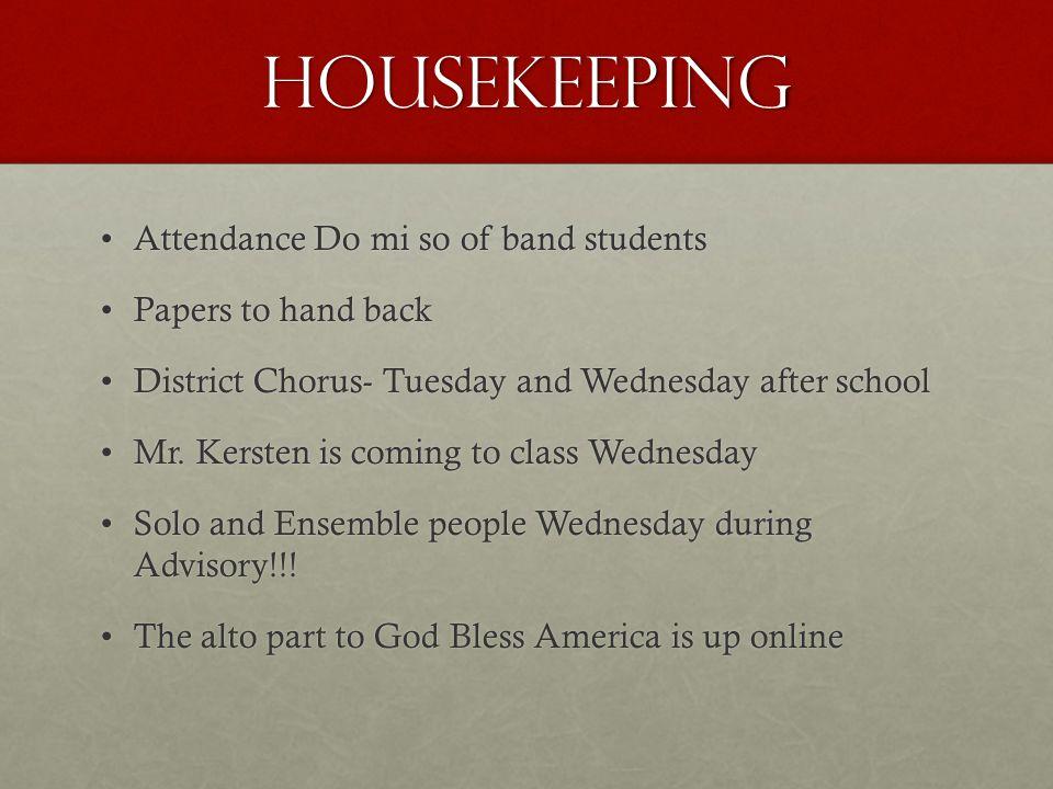 7 th Grade Chorus Wed, October 9, 2013 Day B Band students to Band